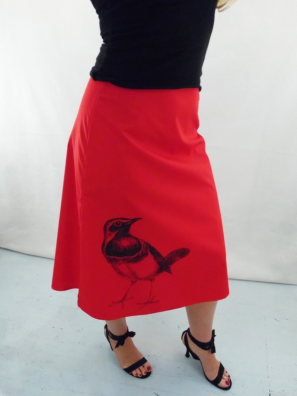 Red A-Line Skirts - angie's sweatshop