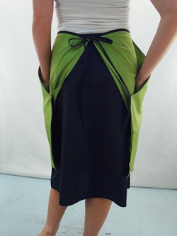 Back Detail of Green Half Apron